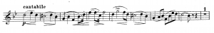 How to play more musically, Excerpt from Oskar Böhme Trumpet Concerto